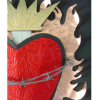 Copper Flame Heart detail