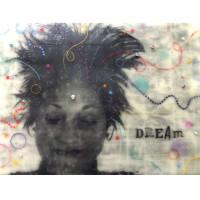 """Dream"" encaustic mixed-media painting"