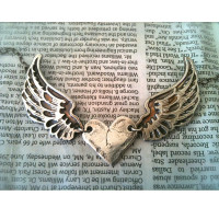Winged Heart Silver Necklace